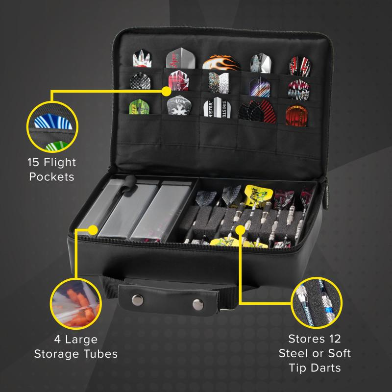 Casemaster The Pro Leather Dart Case