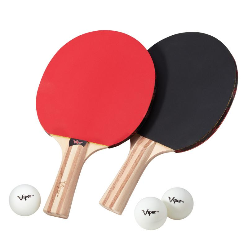 Viper Two Star Tennis Table Two Racket and Three Ball Set Table Tennis Accessories Viper