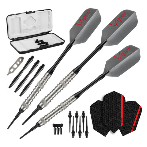 Viper V-Factor Darts 90% Tungsten Soft Tip Darts Grooved Barrel 18 Grams Soft-Tip Darts Viper