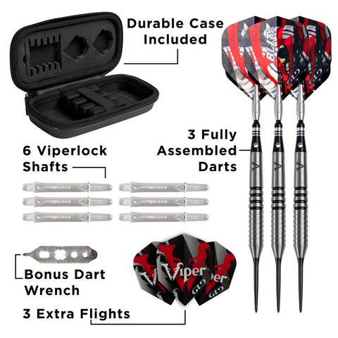 Viper Blitz Darts 95% Tungsten Steel Tip Darts 26 Grams