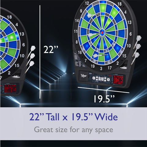 "Viper Ion Illuminated Electronic Dartboard, 15.5"" Regulation Target"