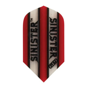 V-100 Sinister Flights Slim Translucent Red Dart Flights Viper
