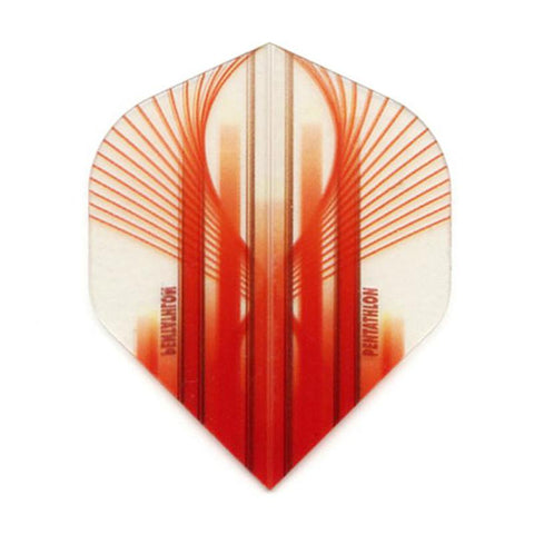 Pentathlon Standard Translucent Design White/Red Flights Dart Flights Viper