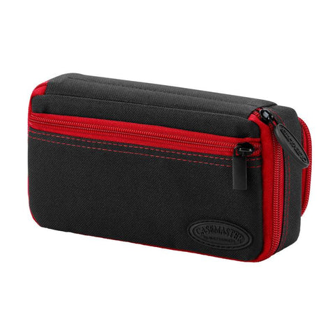 Casemaster Plazma Plus Dart Case Black with Ruby Zipper and Phone Pocket