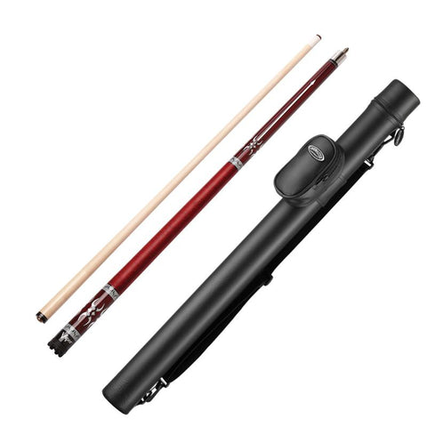 Image of Viper Sinister Series Cue with Red Wrap and Casemaster Q-Vault Supreme Black Cue Case