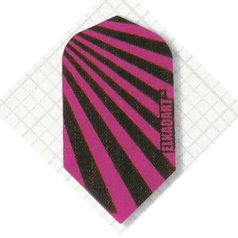 Elkadart Nylon Slim Black/Pink Flights Dart Flights Elkadart