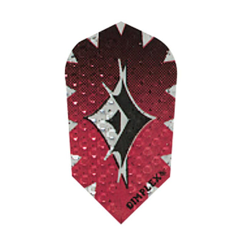 Dimplex Slim Foil Red Flights Dart Flights Harrows