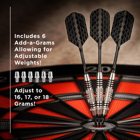 Image of Viper Bobcat Darts Adjustable Soft Tip Darts Black Rings 16-18 Grams Soft-Tip Darts Viper