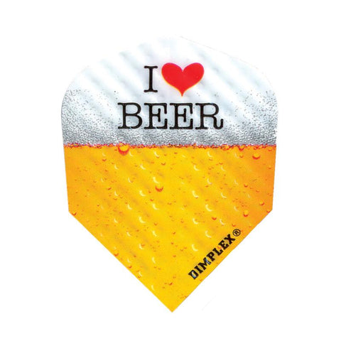 Dimplex Standard I Love Beer Flights Dart Flights Harrows