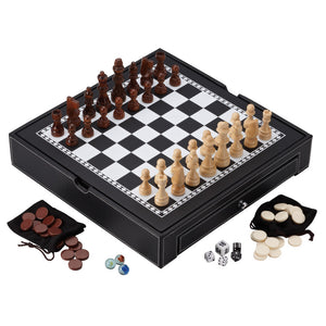 Mainstreet Classics Chess - Checkers - Backgammon - Chinese Checkers