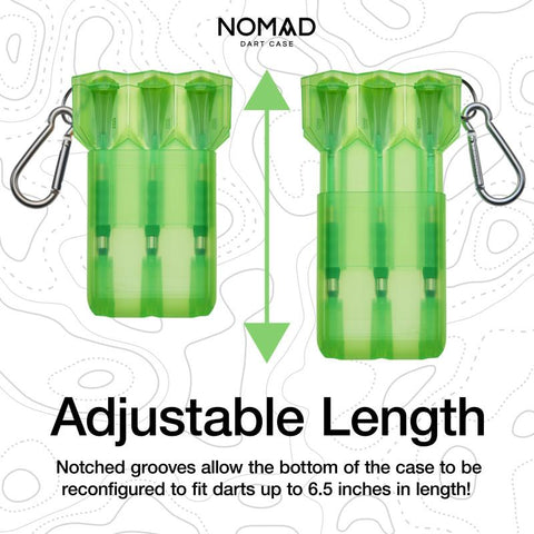 Casemaster Nomad Adjustable Dart Case Neon Green