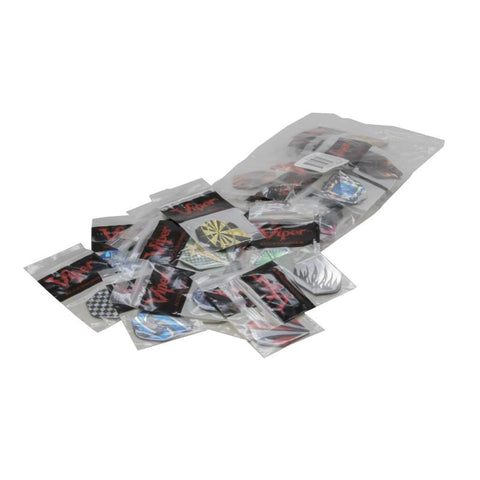 V-Lux Glitter Flights Standard Assortment - 50 Sets Dart Flights Viper
