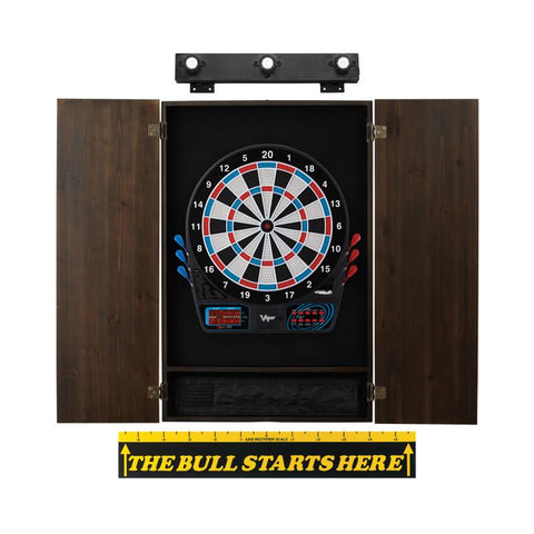 Image of Viper 777 Electronic Dartboard, Metropolitan Espresso Cabinet, Throw Line Marker & Shadow Buster Dartboard Light Bundle Darts Viper