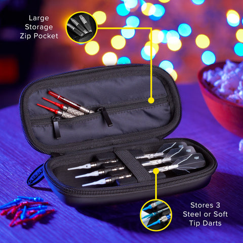 Image of Casemaster Warden Dart Case with Black Zipper Dart Cases Casemaster