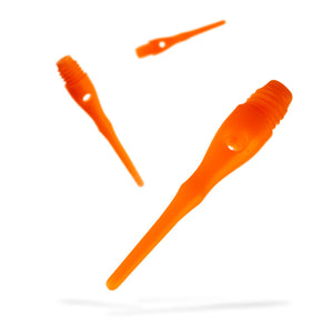 Viper Tufflex Tips III 2BA Neon Orange 100Ct Soft Dart Tips