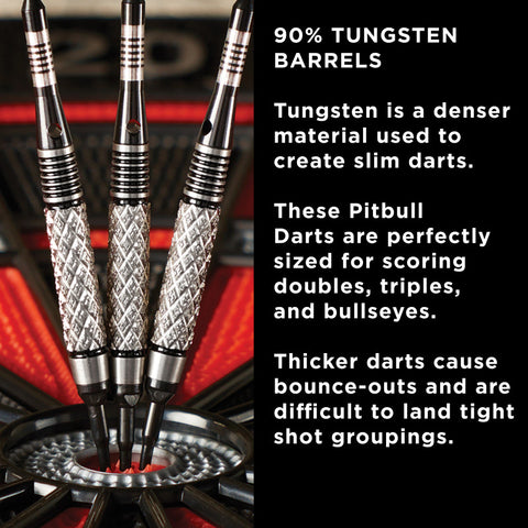 Viper Pitbull Darts Tungsten Soft Tip Darts Diamond Cut Barrel 18 Grams