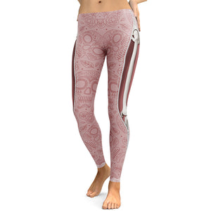 Skull Workout Leggings - Printed Gym Leggings for Women