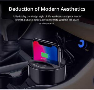 10W Car Wireless Charger Cup With USB Output