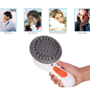 Electric Waterproof Head Scalp Massager For Hair Growth And Relaxation