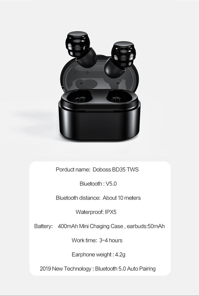 Wireless Microphone Bluetooth Headphones With Charging Box