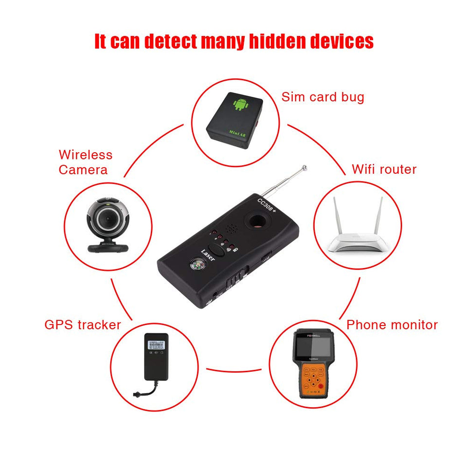 Hidden Camera And Bug Detector Device