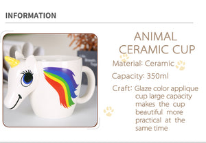 300ML 3D COLOR CHANGING MUG – CREATIVE CERAMIC UNICORN MUGS