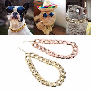 1 Cuban Link Thick Gold Chain Pets Collar