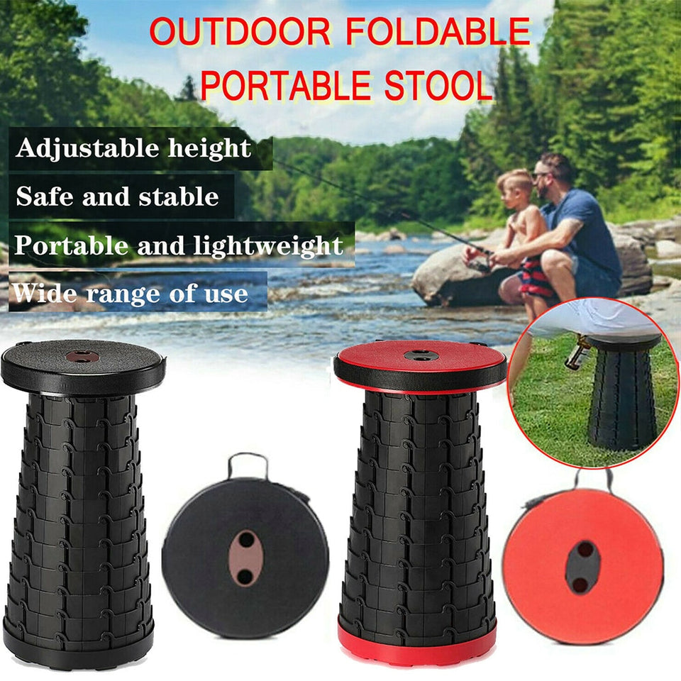 Retractable Folding Stools Portable Plastic Stool