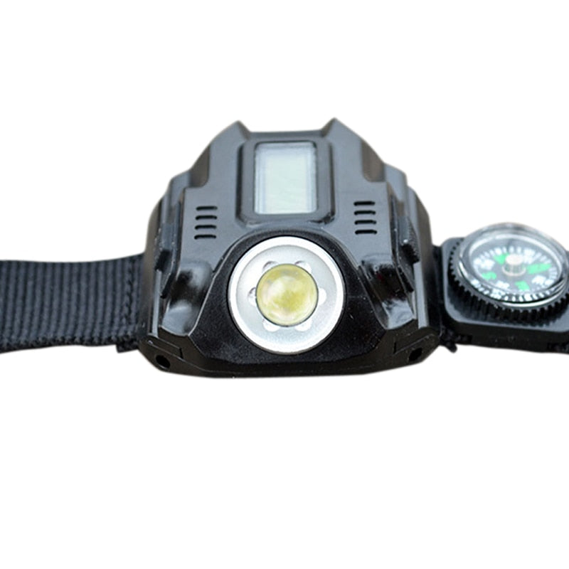 Rechargeable Waterproof LED Tactical Display Wrist Watch