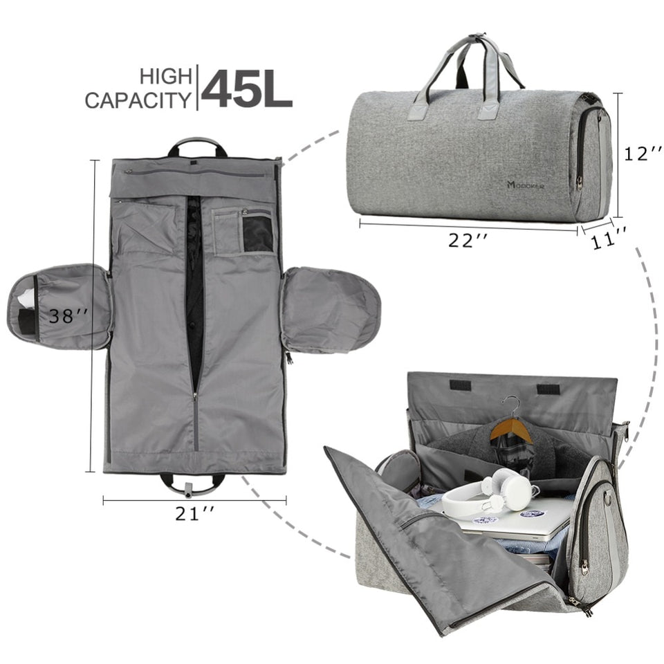 Mens Travel Garment Bag With Shoulder Strap - Duffle Bag
