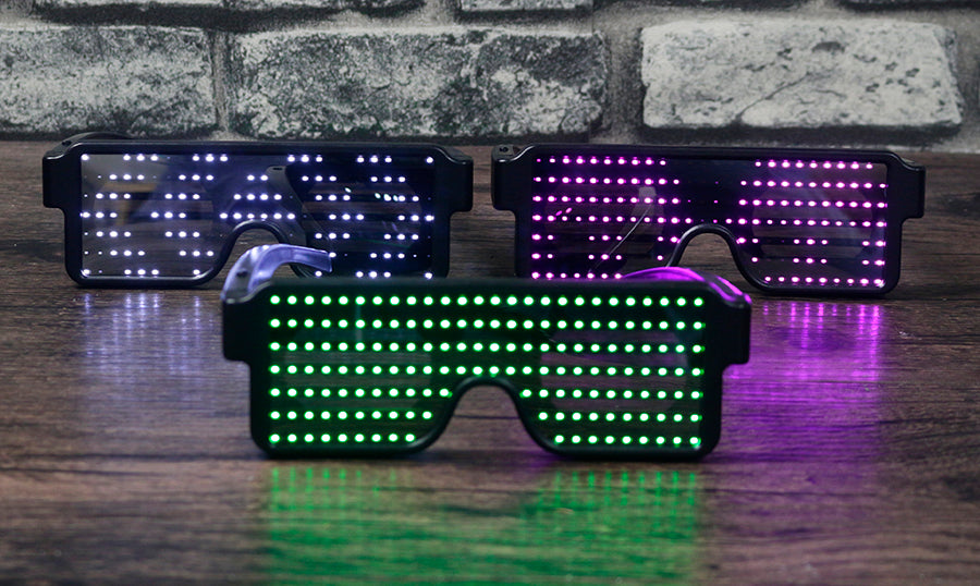 CYBERSHADES - LED Party USB Light Up Glow Glasses