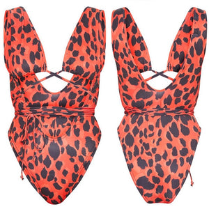 Womens One Piece Bandage Bikini Swimsuit