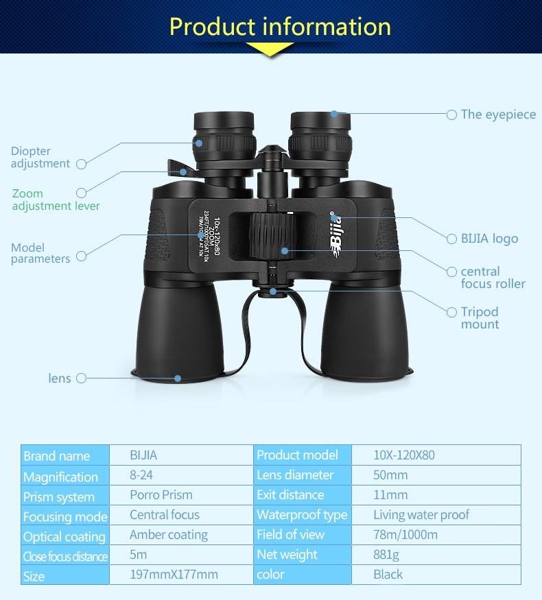 10-120X80 High Magnification Binoculars