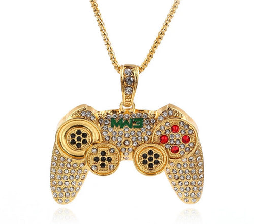 Hip Hop Game Controller Handle Pendant Necklace