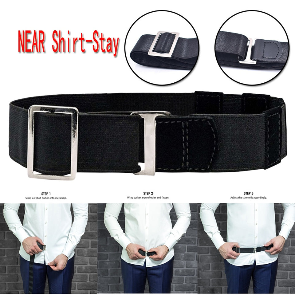 Mens Adjustable Invisible Shirt Belt