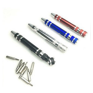 8 In 1 Aluminum Precision Screwdriver Set Pen
