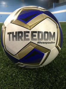 Threedom Training Soccer Ball - Blue
