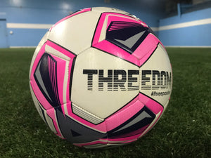 Threedom Training Soccer Ball - Neon Pink