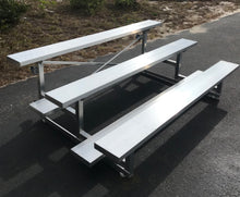 Load image into Gallery viewer, PEVO Tip-N-Roll 3 Row Bleacher - 21'
