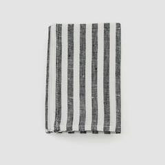 Fog Linen Black + White Stripe Kitchen Cloth