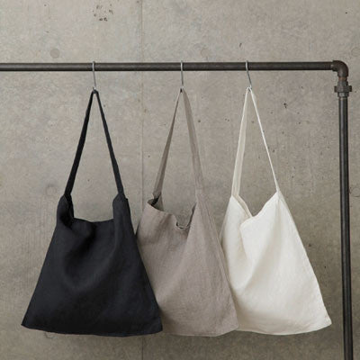 linen tote by white nest market
