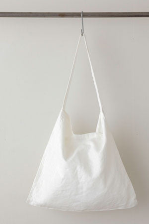White Linen 'Across the Chest' tote