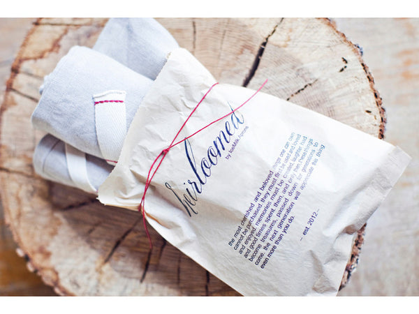 heirloom set of 2 linen tea towels