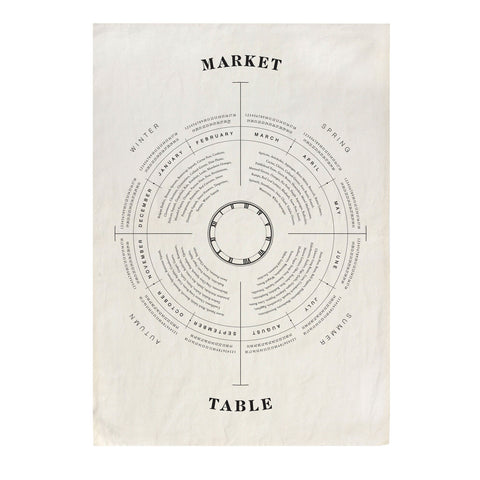 'Market To Table' Tea Towel