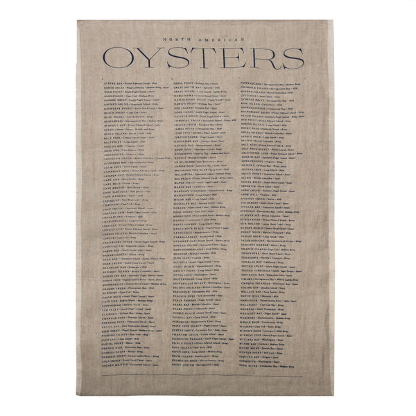 Natural 'Oyster' Tea Towel