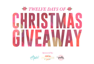 12 Days of Christmas Giveaway + 6 Free Holiday Overlays