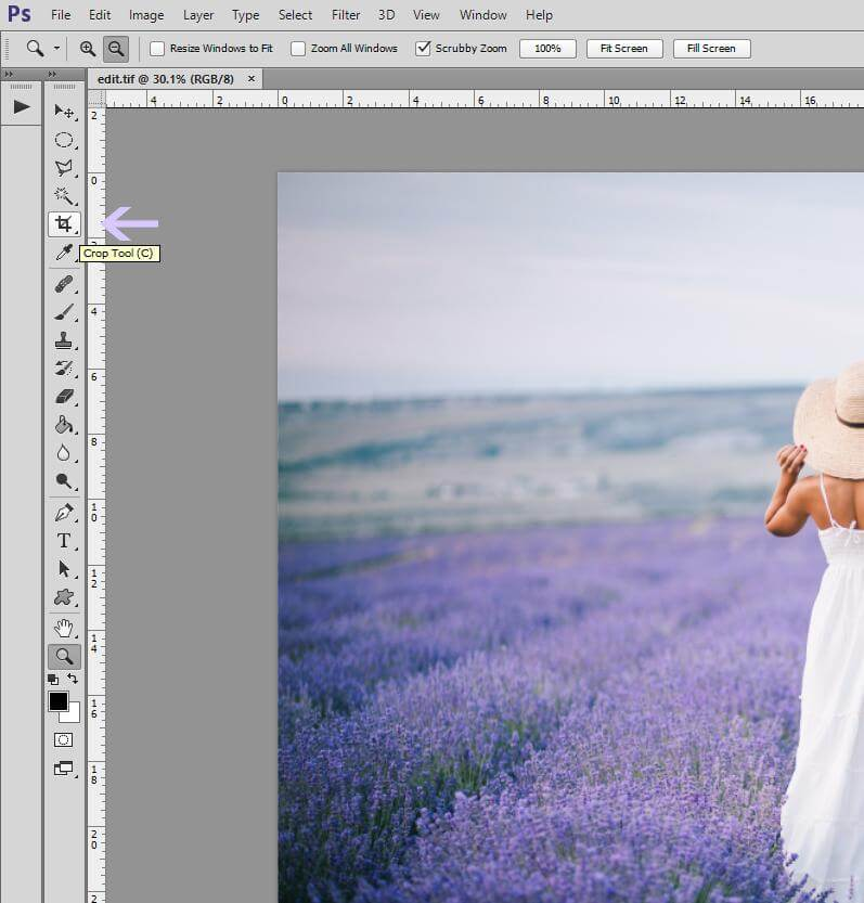 How to Crop an Image in Photoshop