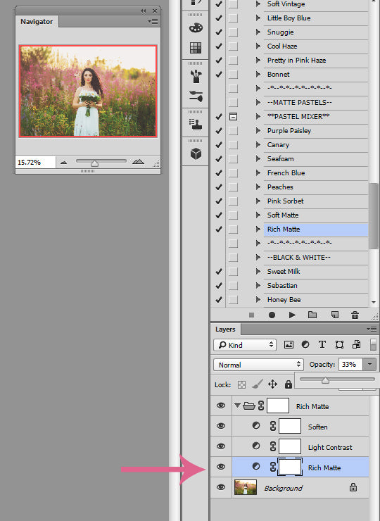 Adjusting Matte Effects in Photoshop