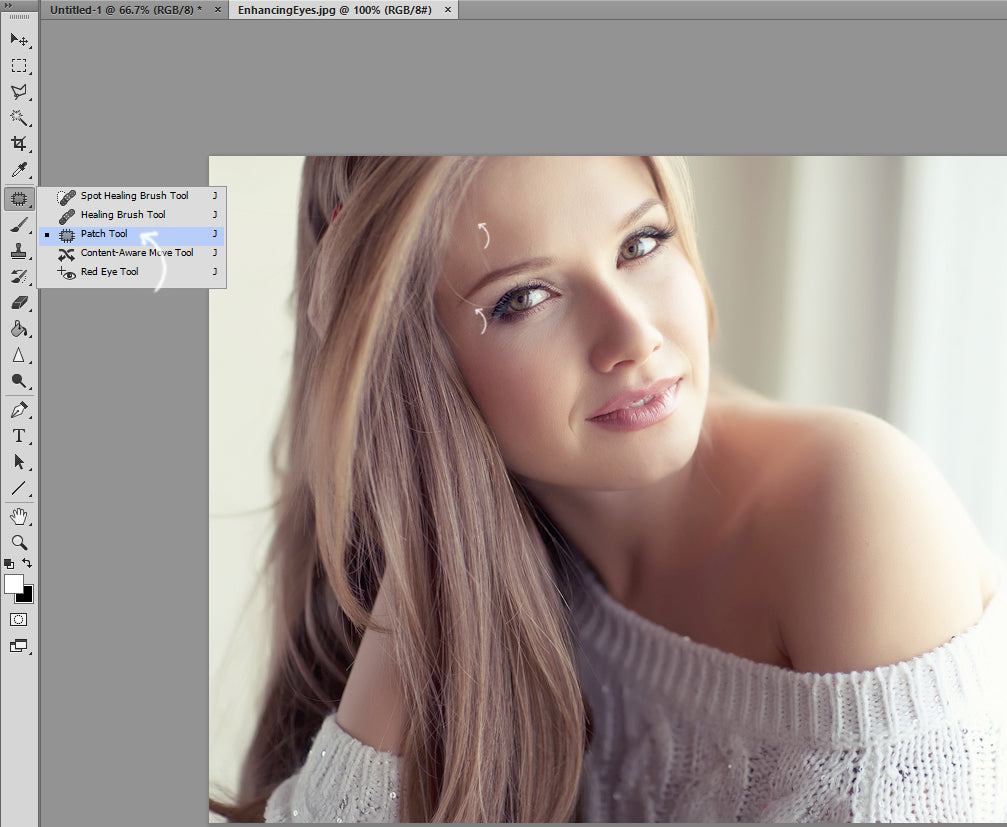 How To Whiten Teeth And Eyes - Retouching