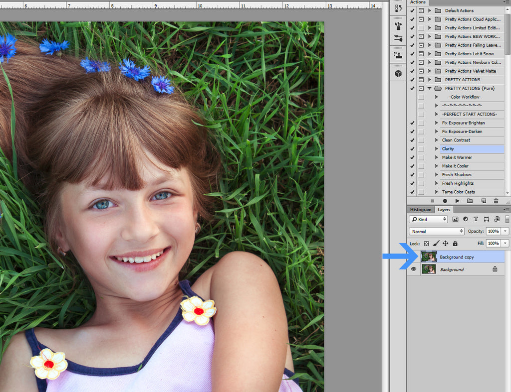 Photoshop's High Pass Filter for sharpening